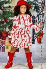 فتاة صغيرة فستان عيد الميلاد