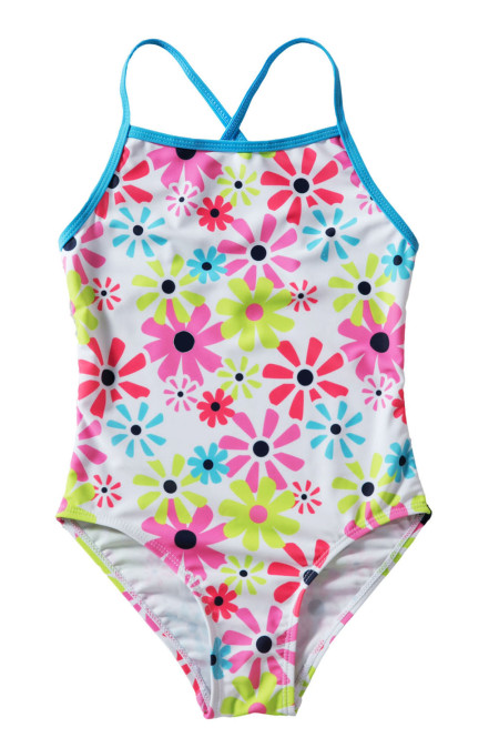 الفتيات الصغيرات عبور عباد الشمس ملابس السباحة قطعة واحدة