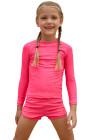 وردية طويلة الأكمام طفح الحرس للفتيات الصغيرات