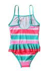 نيون متعدد الألوان مخطط كشكش تقليم الفتيات ملابس السباحة تيدي