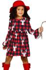 جاموس الرنة منقوشة عيد الميلاد فتاة صغيرة اللباس