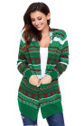 أخضر أبيض أحمر هندسي متماسكة عيد الميلاد كارديجان