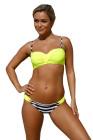 Ensemble de bikini push-up Rather rembourré jaune