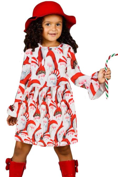 سانتا كلوز كلوفر عيد الميلاد فتاة صغيرة اللباس