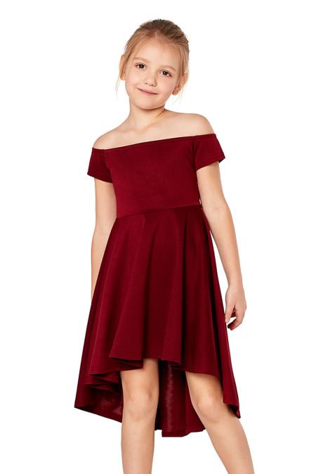 Red All The Rage Skater Dress للبنات الصغار
