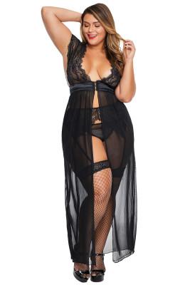 Черное платье большого размера Locked Away Lover
