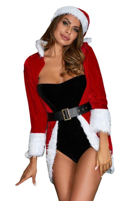 عيد الميلاد ملكة لوكس الفراء تريم 4pcs حلي