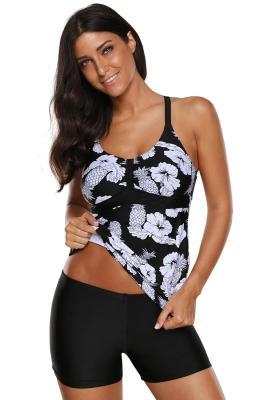 الأزهار و الأناناس طباعة Tankini ملابس السباحة