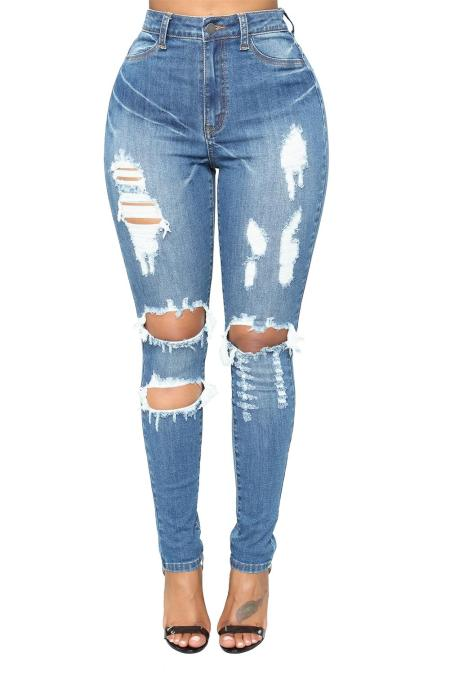 جينز أزرق فاتح
