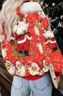 عيد الميلاد عطلة الكرتون طباعة البلوز
