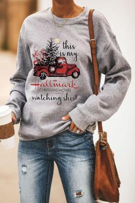 Sudadera con capucha y estampado Christmas Christmas Letters