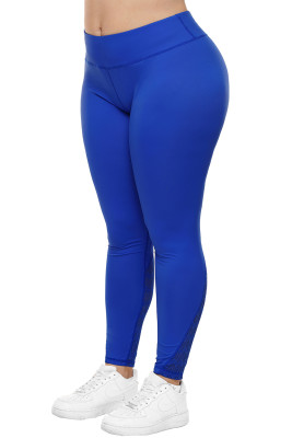 Pantalones de yoga Royal Size Heathered Splice Plus