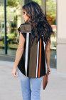 Blusa enrollable de manga corta con cremallera