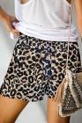 Kalhoty z elastického pasu Leopard