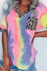Hypnotizovaný Tie Dye Leopard Top