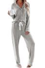 Ensemble de pyjama gris Sound Asleep Button