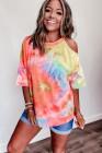 Kravata Dye Print Cold Shoulder Casual T-shirt