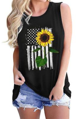 خزان عباد الشمس العلم الأمريكي نجمة عارضة