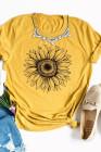 T-shirt jaune à base de tournesol