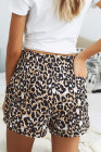 Šněrovací šortky pro volný čas Leopard s elastickým pasem