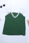Camiseta sin mangas de encaje verde