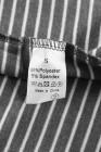 أزياء ليوبارد طباعة رمادي مخطط الأعلى