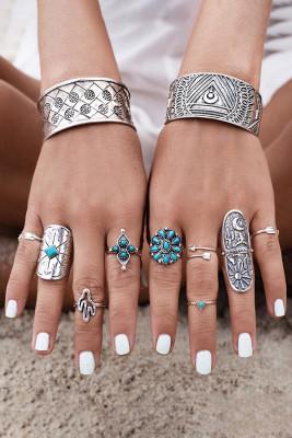 Elegantní sada prstenů Boho