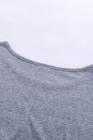 Dusty Blue Star Print camiseta de manga corta