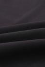 Черная рубашка с V-образным вырезом с рукавами 3/4