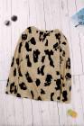 Blusa Manga Larga Estampado Leopardo