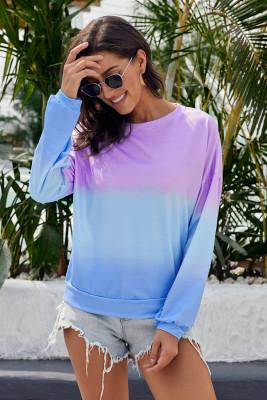 Farbblock-Krawatten-Pullover-Sweatshirt