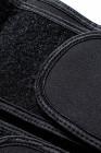 Černý 5 ocelových kostí neoprenový pásový pas s háčkem
