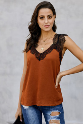 Camisa Naranja One More Night Lace Cami