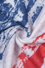 Майка с принтом в полоску и американским флагом