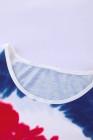 Canotta rossa bianca blu cravatta colorante