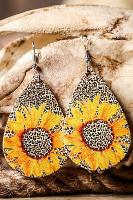 Серьги Fashion Leopard Sunflower