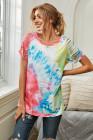 Camiseta con efecto tie dye y manga raglán rasgada