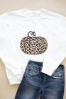 Animal Print Pumpkin Graphic Weiß Sweatshirt