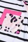 تي شيرت مخطط بنقشة جلد الفهد