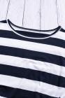 Robe t-shirt à poches et rayures bleu marine avec ceinture