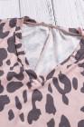 Vestido largo de leopardo casual con aberturas