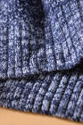Modrý barevný blok pletená svetr svetr