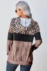 sudadera con capucha de leopardo