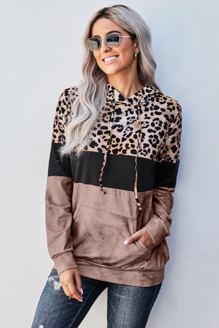 Sudadera Leopard Tie Dye Colorblock