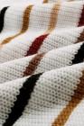 Jersey de punto de rayas multicolor