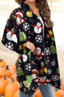 كارديجان عيد الميلاد سانتا ثلج ندفة الثلج طباعة