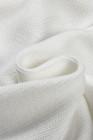 Cárdigan de manga globo a rayas blancas