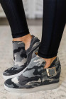 Camouflage Sneaker Wedge