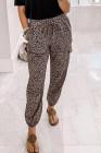 Chic Jogger mit elastischer Taille und Kordelzug mit Leopardenmuster