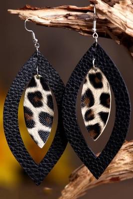 Серьги-подвески с леопардовым принтом